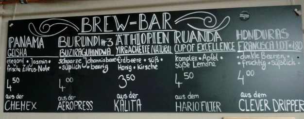 BrewBar - Menu
